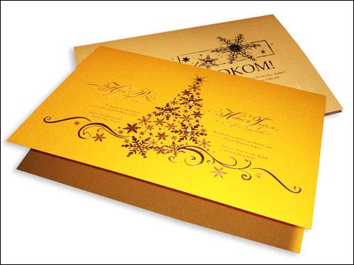 Печать логотипа на открытках
